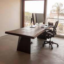 live edge computer desk live edge shear desk taylor donsker design