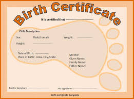 birth certificate template best word templates