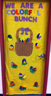 easter door decorations we re a colorful bunch easter classroom door decoration