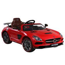 cars mercedes red licensed mercedes benz sls amg 12v kids battery powered car