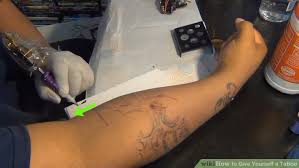 how to give yourself a tattoo with pictures wikihow