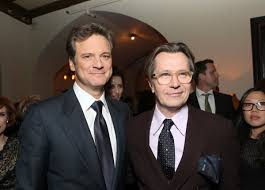 above colin firth left and gary oldman at the premiere of