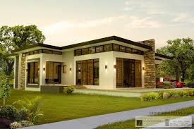 Contemporary One Story House Plans by Contemporary Home Design In One Storey 2 House Elevation Single