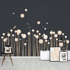 wood print wild flowers wall stickers by funky little darlings wood print wild flowers wall stickers