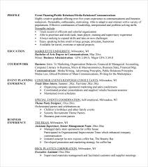 10 event planner resume templates free samples examples