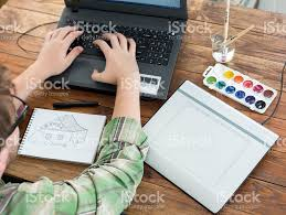 4731 best graphic design images artist drawing sketch on graphic tablet top view stock photo istock
