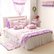 bedroom sets queen size beds purple pink white girls ruffle full