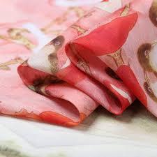 azalea printing silk linen cuckoo summer dress fabric shirt