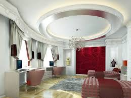 interior very bright small living room with tray ceiling design
