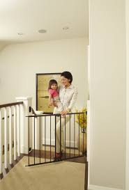 Extra Wide Gate Pressure Mounted Best Baby Gates For Top Of Stairs Bearded Dad