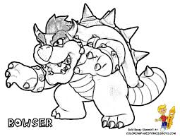 Mario Bad Guys Coloring Pages Coloring