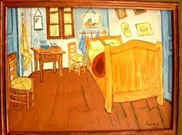 la chambre a arles frisch tableau la chambre de gogh a arles bleue vincent jaune