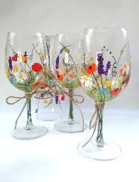 painting on glassware best 25 painted wine glasses ideas on