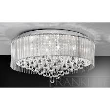 Flush Ceiling Lighting by Franklite Fl2160 8 Spirit Crystal Drop Flush Ceiling Light