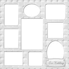 our wedding scrapbook wedding photo templates