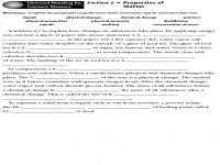 quiz u0026 worksheet u2013 physical and chemical properties of matter
