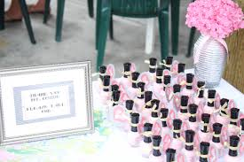 baby shower favor nail polish home decorating interior design