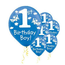 baby boy 1st birthday world of party supplies baby boy s 1st birthday balloons
