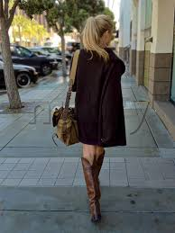 how to wear a dress with boots