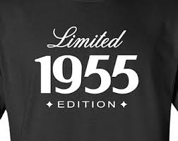 turning 60 birthday gifts 60th birthday gift for him 1955 limited edition mens womens t