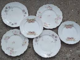 antique china plates lot assorted floral patterns to mix and