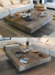 Wooden Living Room Table Bonheur Wooden Handmade Square Coffee Table Didier Cabuy Wood