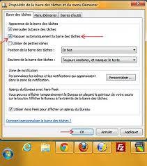 affichage bureau windows 7 afficher masquer la barre des tâches de windows 7 rapidement et la
