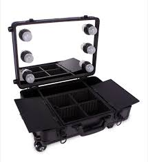 professional makeup trunk hot selling professional hasp trunk trolley beauty with l