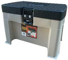 plastic step stool seat tack tool fishing box horse equestrian