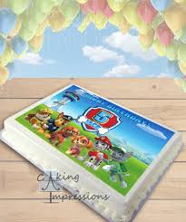 Paw Patrol Cake Decorations Paw Patrol All Dogs Edible Image Sheet Cake Topper