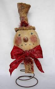 pattern only primitive christmas vintage snowman nodder doll