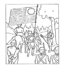 american revolution flag coloring pages virtren com