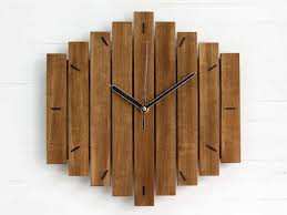 wooden wall clock rustic home decor unusual wall clock