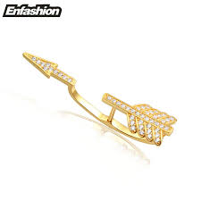 cuff earring aliexpress buy enfashion rhinestone arrow earring