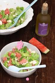 comment cuisiner les feves surgel s salade fèves pastèque recette light