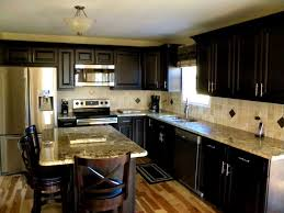 Dark Kitchen Cabinets With Light Granite Kitchens Light Granite Comfortable Home Design