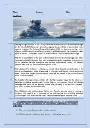 observe infer predict with photos of volcanic eruptions anchors