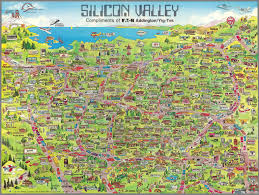 Cupertino Map Silicon Valley David Rumsey Historical Map Collection