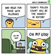 Comic Meme - bad news for those with allergies comic book comics meme