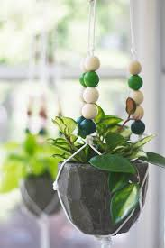 modern hanging planters macrame beaded hanging planter u0026 ace gift card giveaway