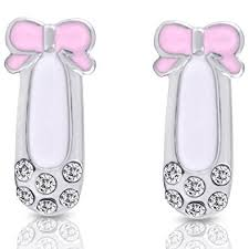rhodium earrings sensitive ears smitco llc girl earrings hypoallergenic stud