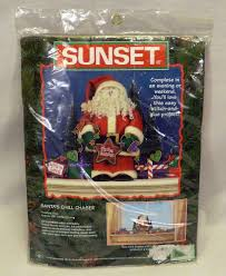 1998 sunset dimensions santa u0027s chill chaser stitch and glue