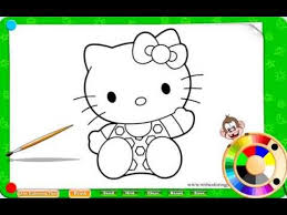 kitty coloring pages girls free kitty