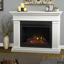 Electric Fireplace With Mantel Real Flame Kennedy Grand 55 Inch Electric Fireplace With Mantel
