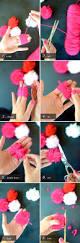 How To Make Floral Arrangements Step By Step Diy Valentine U0027s Pom Pom Bouquet Camille Styles