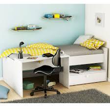 lit combin avec bureau lit combiné avec bureau 90x200 cm blanc perle bony dya shopping fr