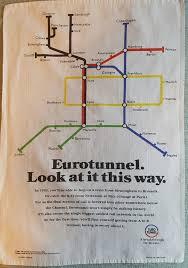 Eurostar Route Map by Eurostar Train Rail Maps