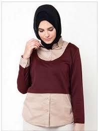 desain baju kekinian model busana muslim atasan yang modis nibinebu com
