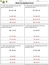 related facts write the related facts practice sheets fact