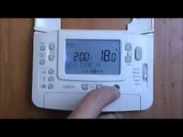 honeywell cm907 digital programmable room thermostat youtube